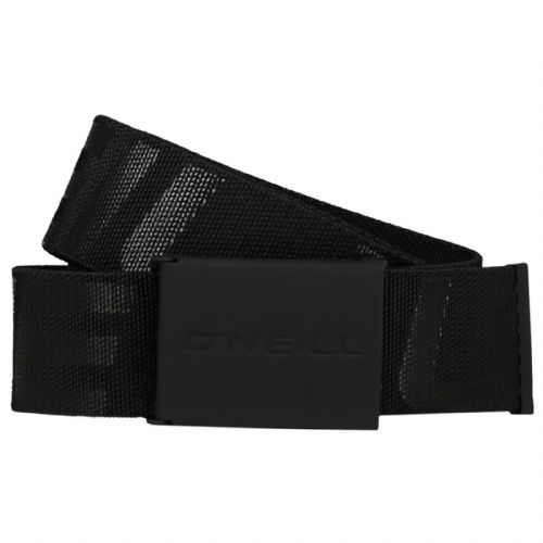 O'NEILL MENS BELT.NEW LOGO ELASTICATED EMBOSSED BLACK JEANS TROUSERS STRAP 9S 30